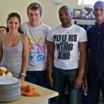 Bianca, Richard, Agripa, Akhona - Their turn to cook for the team!