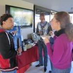 Wade & Akhona talking energy at the lunch talk